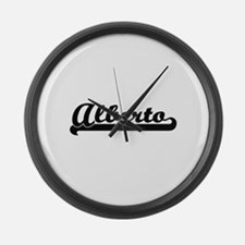 Alberto Classic Retro Name Design Large Wall Clock