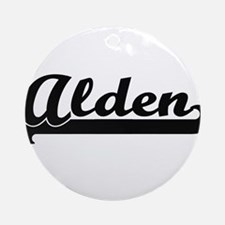 Alden Classic Retro Name Design Ornament (Round)