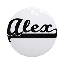 Alex Classic Retro Name Design Ornament (Round)