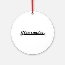 Alexzander Classic Retro Name Des Ornament (Round)