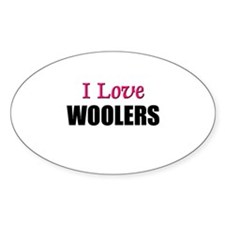 I Love WOOLERS Oval Decal