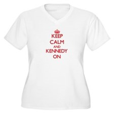 Keep Calm and Kennedy ON Plus Size T-Shirt