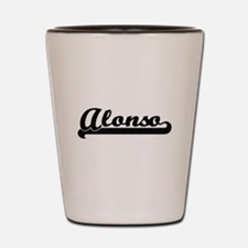 Alonso Classic Retro Name Design Shot Glass