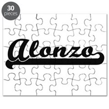 Alonzo Classic Retro Name Design Puzzle
