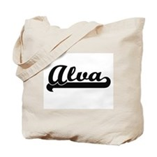 Alva Classic Retro Name Design Tote Bag
