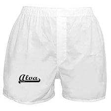 Alva Classic Retro Name Design Boxer Shorts