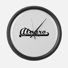 Alvaro Classic Retro Name Design Large Wall Clock