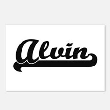 Alvin Classic Retro Name Postcards (Package of 8)