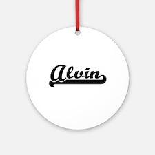 Alvin Classic Retro Name Design Ornament (Round)