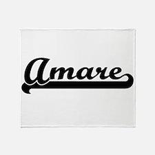 Amare Classic Retro Name Design Throw Blanket
