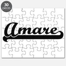 Amare Classic Retro Name Design Puzzle