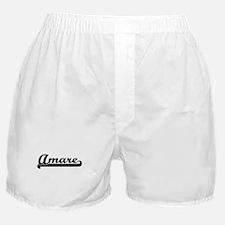 Amare Classic Retro Name Design Boxer Shorts