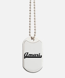 Amari Classic Retro Name Design Dog Tags