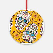 Sugar Skull Yello Ornament (Round)