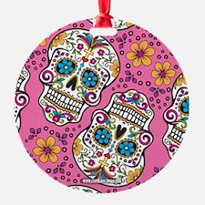 Sugar Skull Pink Ornament