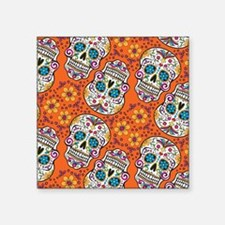 Sugar Skull Orange Sticker