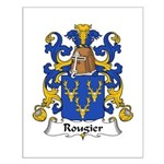 Rougier Family Crest Small Poster