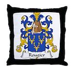 Rougier Family Crest Throw Pillow