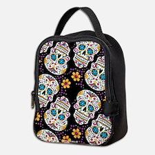 Day of The Dead Sugar Skull, BL Neoprene Lunch Bag
