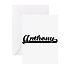 Anthony Classic Retro Name Design Greeting Cards