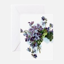 Violets Greeting Cards