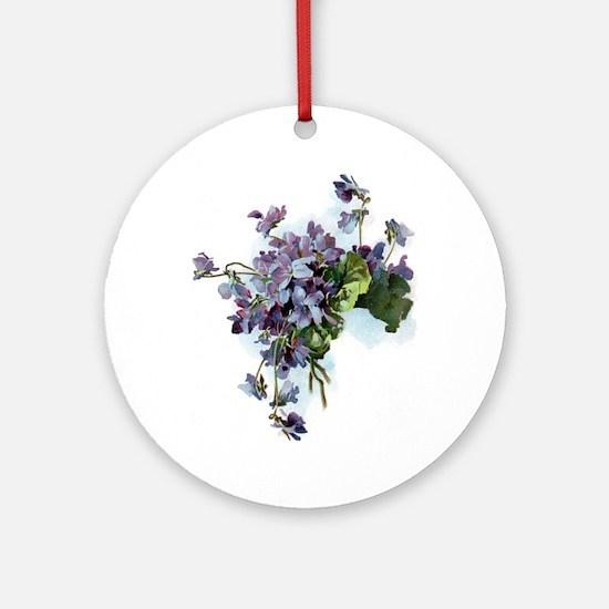 Violets Ornament (Round)