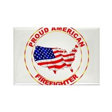 Proud American Firefighter Rectangle Magnet