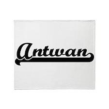 Antwan Classic Retro Name Design Throw Blanket