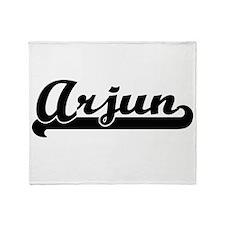 Arjun Classic Retro Name Design Throw Blanket