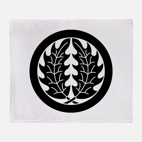 Embracing holly leaves in circle Throw Blanket