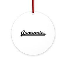 Armando Classic Retro Name Design Ornament (Round)