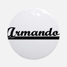 Armando Classic Retro Name Design Ornament (Round)