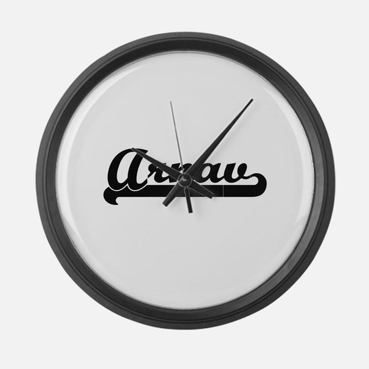 Arnav Classic Retro Name Design Large Wall Clock
