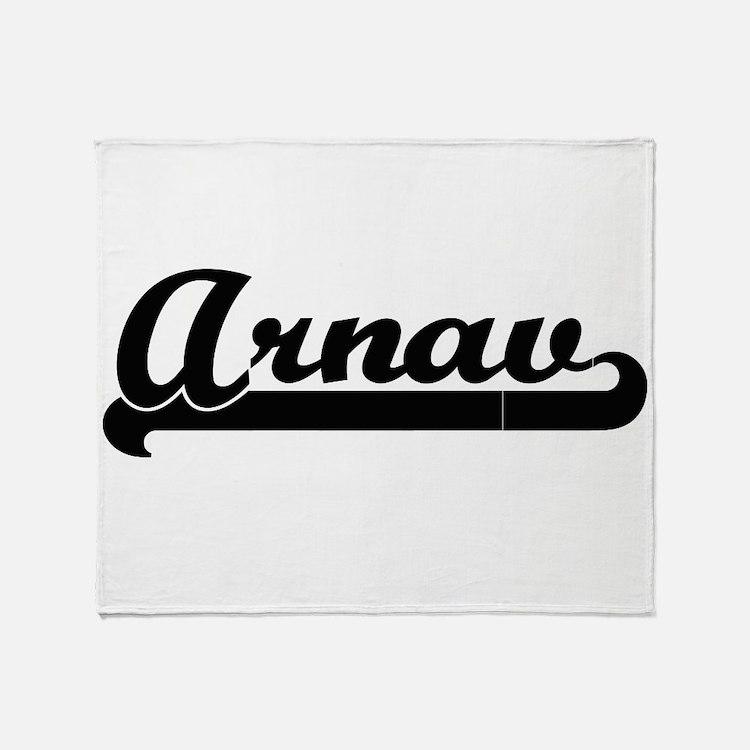 Arnav Classic Retro Name Design Throw Blanket