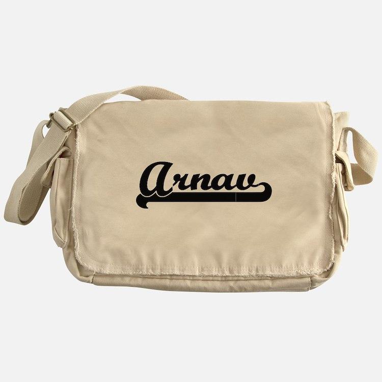 Arnav Classic Retro Name Design Messenger Bag