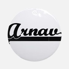 Arnav Classic Retro Name Design Ornament (Round)