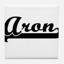 Aron Classic Retro Name Design Tile Coaster