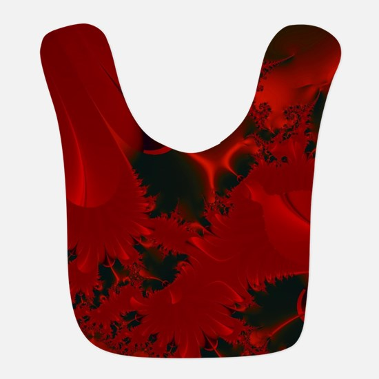 Red Fusions Fractal Art Bib