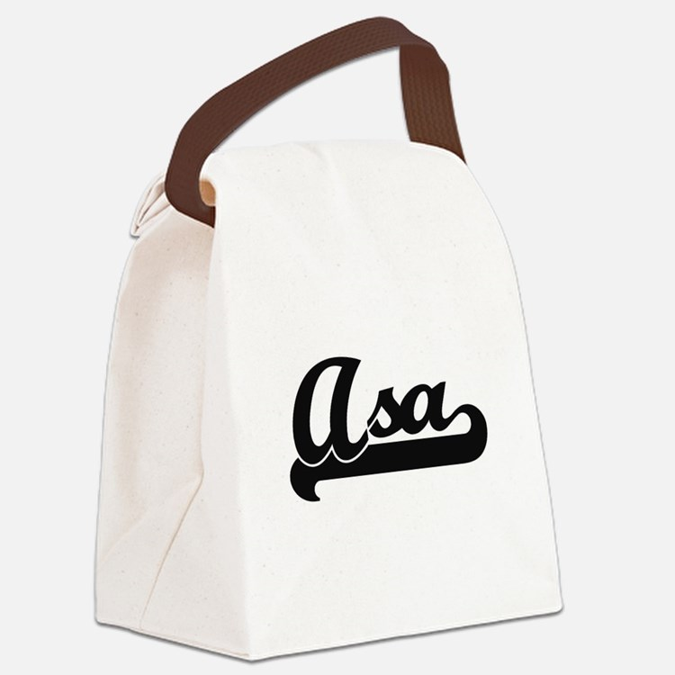 Asa Classic Retro Name Design Canvas Lunch Bag