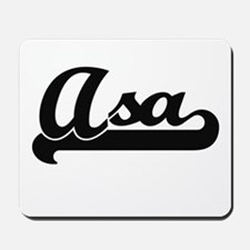 Asa Classic Retro Name Design Mousepad