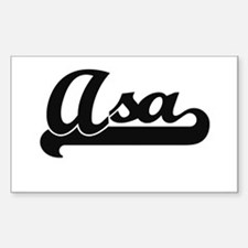 Asa Classic Retro Name Design Decal