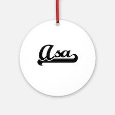 Asa Classic Retro Name Design Ornament (Round)