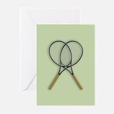 Tennis Rackets Sport Design Greeting Cards