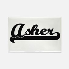 Asher Classic Retro Name Design Magnets