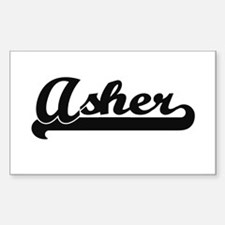 Asher Classic Retro Name Design Decal