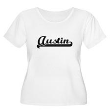 Austin Classic Retro Name Design Plus Size T-Shirt