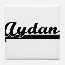 Aydan Classic Retro Name Design Tile Coaster
