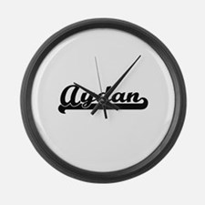 Aydan Classic Retro Name Design Large Wall Clock