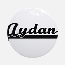 Aydan Classic Retro Name Design Ornament (Round)