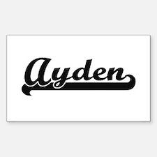 Ayden Classic Retro Name Design Decal